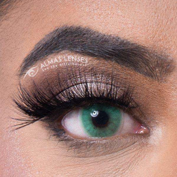 Verde, kleurlenzen, almas lenses, lashes, almas lashes, lina