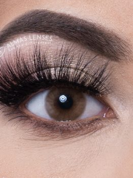Almas Lenses, Kleurlenzen, Brown, Lashes