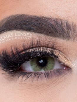 Almas Lashes, Lenses, mia, ice green